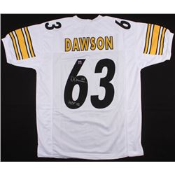 "Dermontti Dawson Signed Steelers Jersey Inscribed ""HOF 12"" (Jersey Source COA)"