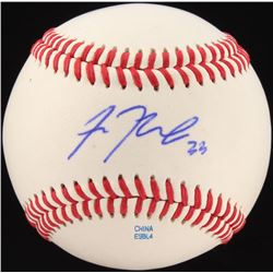 Sean Newcomb Signed OL Baseball (JSA COA)