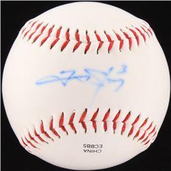 Trevor Story Signed OL Baseball (JSA COA)