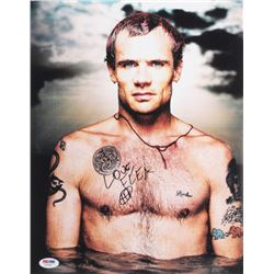 "Flea Signed Red Hot Chili Peppers 11x14 Photo Inscribed ""Love"" (PSA COA)"
