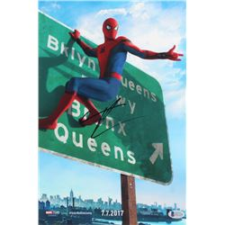 Tom Holland Signed  Spider-Man: Homecoming  11x14 Photo (Beckett COA)