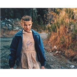 "Millie Bobby Brown Signed ""Stranger Things"" 16x20 Photo Inscribed ""011"" (Beckett COA)"