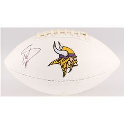 Stefon Diggs Signed Vikings Logo Football (Beckett COA)