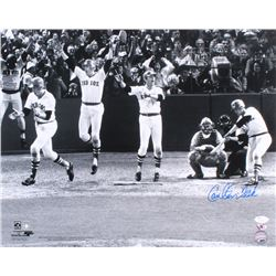 Carlton Fisk Signed Red Sox 1975 World Series Game #6 16x20 Photo (JSA COA  Sure Shot Promotions)