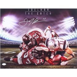 "Julian Edelman Signed LE ""The Catch"" Patriots 16x20 Photo (JSA COA)"