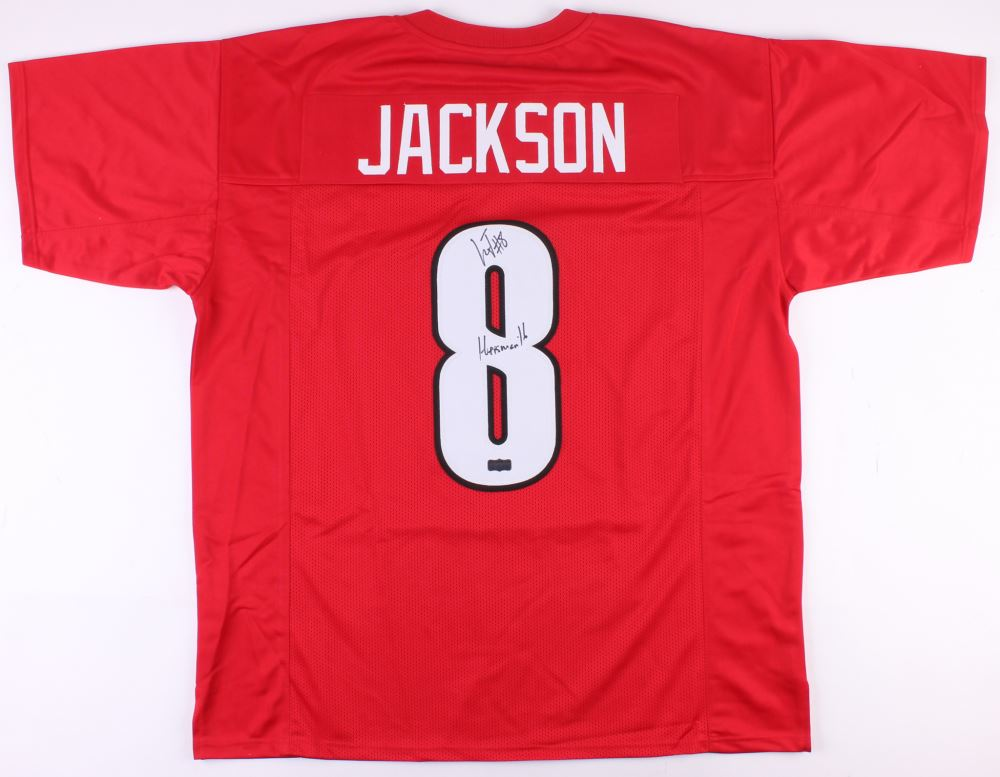 first rate 2537a 7ec7f Lamar Jackson Signed Louisville Cardinals Jersey Inscribed ...