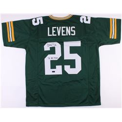 "Dorsey Levens Signed Packers Jersey Inscribed ""SB XXXI Champs"" (Radtke COA)"