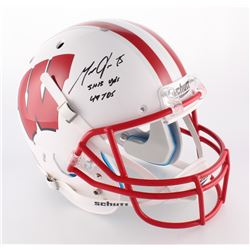 "Melvin Gordon Signed Wisconsin Badgers Full-Size Helmet Inscribed ""5143 YDS""  ""49 Tds"" (Radtke COA)"