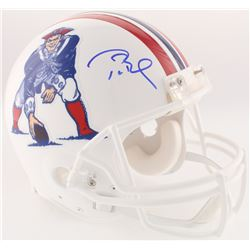 Tom Brady Signed Patriots Full-Size On-Field Throwback Helmet (Tristar Hologram  Radtke COA)