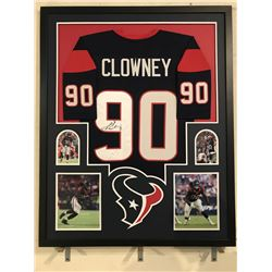 Jadeveon Clowney Signed Texans 34x42 Custom Framed Jersey Display (JSA COA)