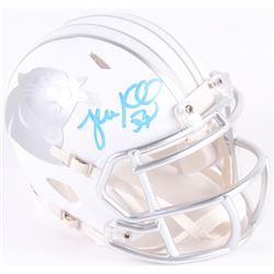 Luke Kuechly Signed Panthers Custom Matte White ICE Mini Speed Helmet (Radtke COA)