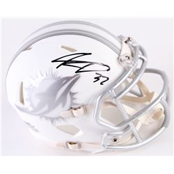 Kenyan Drake Signed Dolphins Custom Matte White ICE Mini Speed Helmet (Radtke COA)