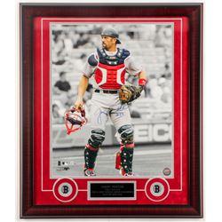 Jason Varitek Signed Red Sox 23x27 Custom Framed Photo Display (MLB Hologram)