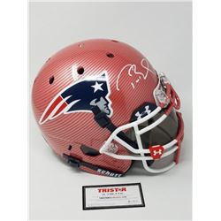 Tom Brady Signed Patriots LE Custom Hydro Dipped Red Full-Size Authentic On-Field Helmet (Tristar Ho
