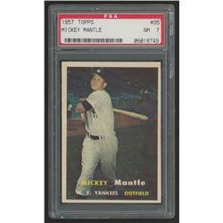 1957 Topps #95 Mickey Mantle (PSA 7)