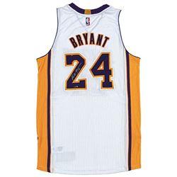 Kobe Bryant Signed Adidas Authentic 2014 Lakers White Jersey (Panini COA)