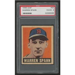 1948 Leaf #32 Warren Spahn (PSA 4)