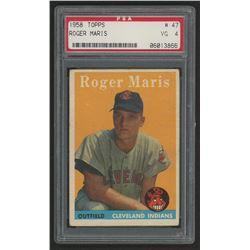1958 Topps #47 Roger Maris RC (PSA 4)