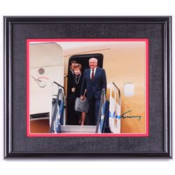 Mikhail Gorbachev Signed 12x14 Custom Framed Photo (Online Authentics COA)