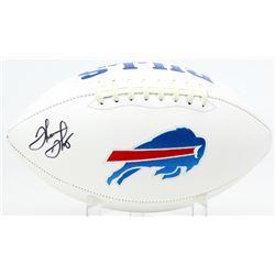 Thurman Thomas Signed Bills Logo Football (JSA COA)