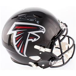 Calvin Ridley Signed Falcons Full-Size On-Field Helmet (Radtke COA  Ridley Hologram)