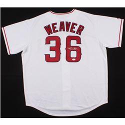 Jered Weaver Signed Angels Jersey (JSA COA)