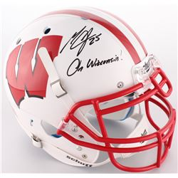 "Melvin Gordon Signed Wisconsin Badgers Full-Size On-Field Helmet Inscribed ""On Wisconsin!"" (Radtke C"