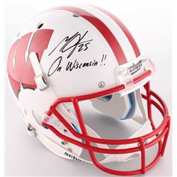 "Melvin Gordon Signed Wisconsin Badgers Full-Size Helmet Inscribed ""On Wisconsin!!"" (Radtke COA)"