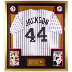 Reggie Jackson Signed Yankees 34x38 Custom Framed Jersey Display (JSA COA)