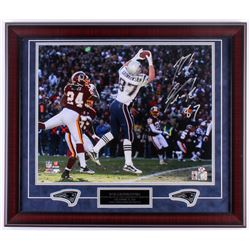 Rob Gronkowski Signed Patriots 23x27 Custom Framed Photo Display (Gronkoski Hologram)