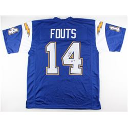 "Dan Fouts Signed Chargers Jersey Inscribed ""HOF '93"" (JSA COA)"