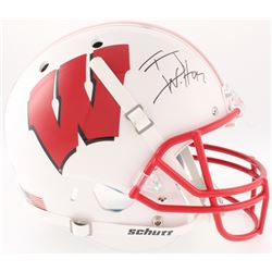 T.J. Watt Signed Wisconsin Badgers Full-Size Helmet (JSA COA  Watt Hologram)