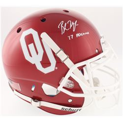 "Baker Mayfield Signed Oklahoma Sooners Full-Size On-Field Helmet Inscribed ""HT '17"" (Beckett COA)"