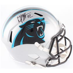 D. J. Moore Signed Panthers Full-Size Speed Helmet (JSA COA)