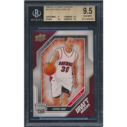 2009-10 Upper Deck Draft Edition #34 Stephen Curry SP RC (BGS 9.5)