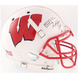 J.J. Watt Signed Wisconsin Badgers Full-Size On-Field Helmet (JSA COA  Watt Hologram)