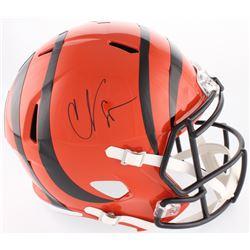 "Chad ""Ocho Cinco"" Johnson Signed Bengals Full-Size Speed Helmet (Beckett COA)"