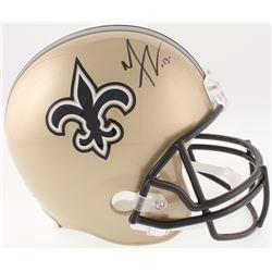 Mike Thomas Signed Saints Full-Size Helmet (JSA COA)