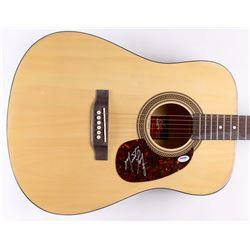 Meat Loaf Signed Acoustic Guitar (PSA COA)