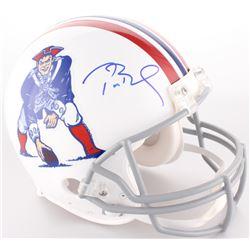 Tom Brady Signed Patriots Full-Size On-Field Throwback Helmet (Tristar Hologram)