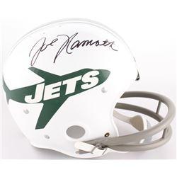 Joe Namath Signed Jets Full-Size On-Field Throwback Suspension Helmet (JSA COA)