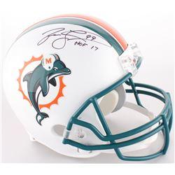 "Jason Taylor Signed Dolphins Full-Size Throwback Helmet Inscribed ""HOF 17"" (JSA COA)"