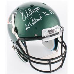 "Warren Sapp Signed Miami Hurricanes Full-Size Helmet Inscribed ""All About The U"" (JSA COA)"