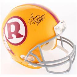 "Sonny Jurgensen Signed Redskins Full-Size On-Field Throwback Helmet Inscribed ""HOF 83"" (JSA COA)"