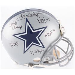 Tony Dorsett Signed Cowboys Full-Size On-Field Helmet with (5) Inscriptions (JSA COA)