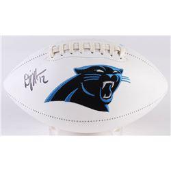 D. J. Moore Signed Panthers Logo Football (Radtke COA)