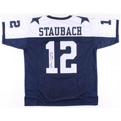 "Roger Staubach Signed Cowboys Thanksgiving Jersey Inscribed ""HOF '85"" (JSA COA)"