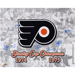 Flyers 1974-75 Stanley Cup Champions 16x20 Photo Signed By (8) Including Orest Kindrachuk, Jimmy Wat