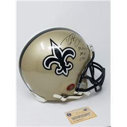 "Drew Brees Signed LE Saints Full-Size Authentic On-Field Helmet Inscribed ""SB XLIV MVP"", ""288 Yds"""