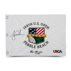 """Tiger Woods Signed LE 2000 PGA U.S. Open Pin Flag Inscribed """"Wire-to-Wire"""" (UDA COA)"""